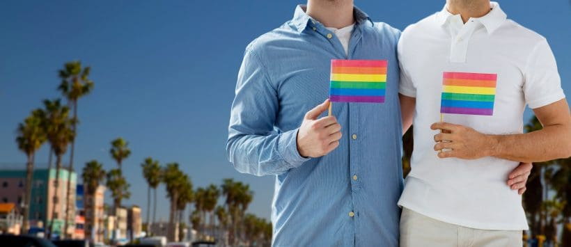 picture of two men holding a pride flag to symbolize diversity and inclusion among everyone-this is what your toddler needs to know
