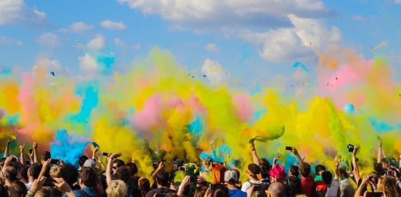 Diverse cultural festival of colors