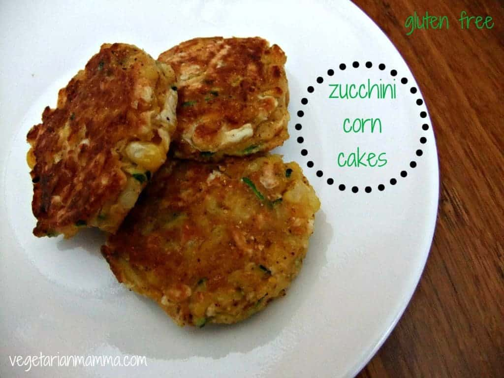 yummy zucchini corn cakes that can be prepped and frozen for new mothers