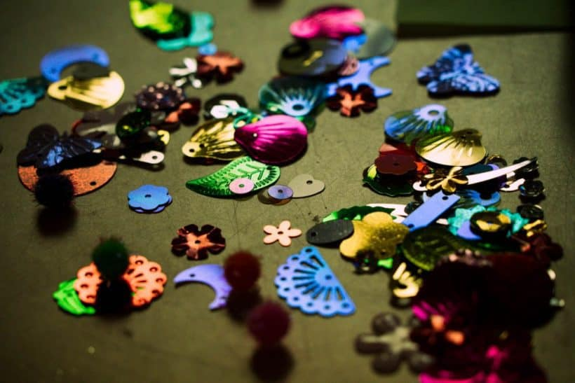 sequins for a butterfly art craft for kids