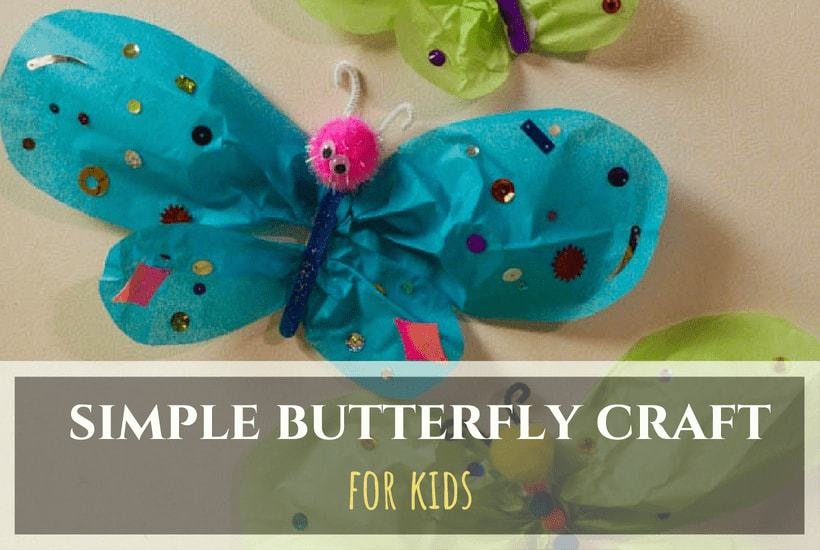 Simple Magnetic Butterfly Craft for Kids