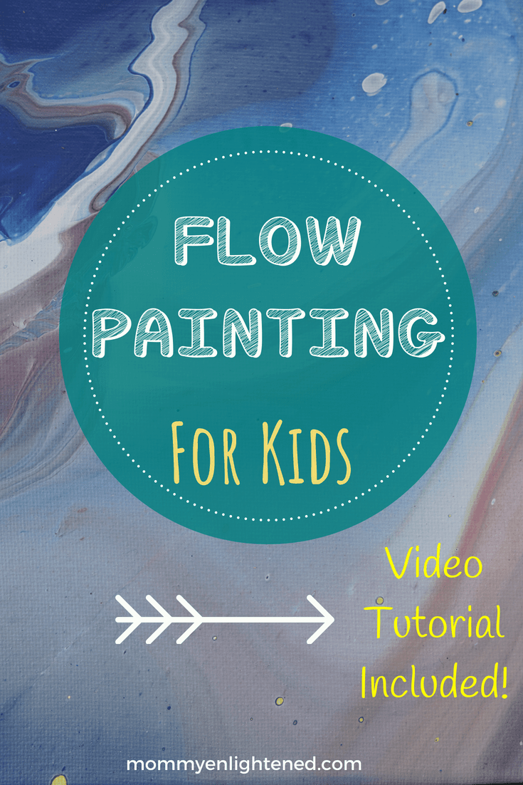 Flow painting or acrylic paint pouring is a simple and fun activity for the family. This fun craft can be done with kids because it is easy and offers a lot of flexibility to make it your own.