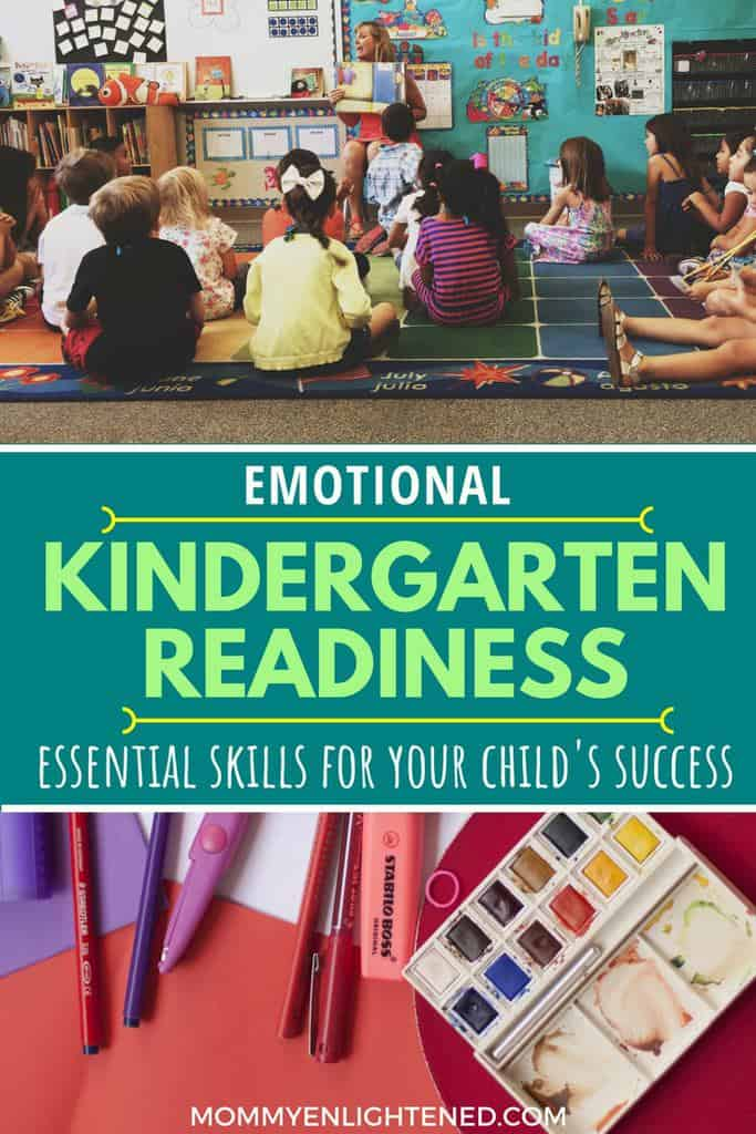 kindergarten emotional readiness is incredibly important. Often as parents we put too much stock in the academic readiness, when in reality the emotional and social learning must come first.