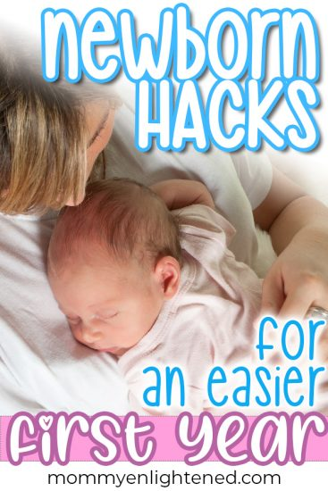 If you are looking for newborn hacks for new moms - you can find that here! We have all of the best baby tips and ideas to help make the first few months of motherhood easier on you. #mommyenlightened #newborn #newmom #momhacks #babyhacks