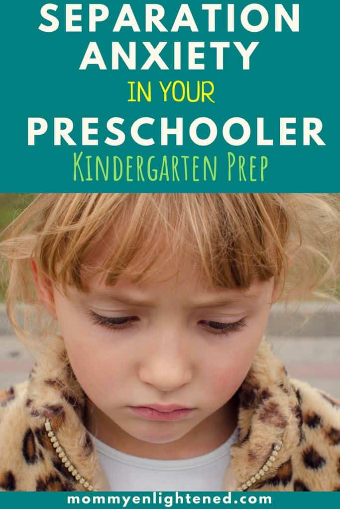 pin that is about separation anxiety in school for preschool and kindergarten age kids
