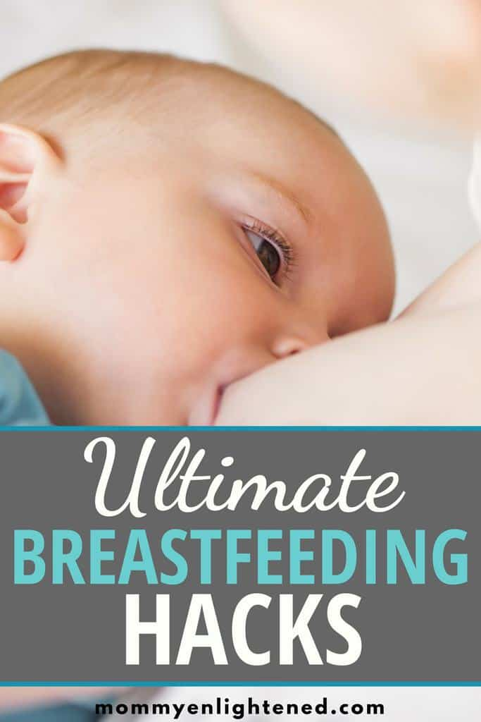 Ultimate list of breastfeeding hacks for new moms! Breastfeeding can be rough, and there are some tips and tricks that never make it into the books! We compiled a comprehensive list in hopes that we can make your breastfeeding journey easier.