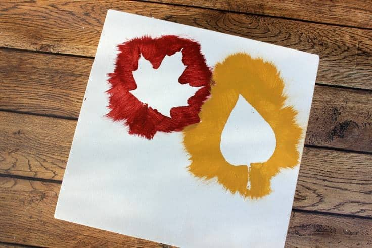 fall leave craft for toddlers