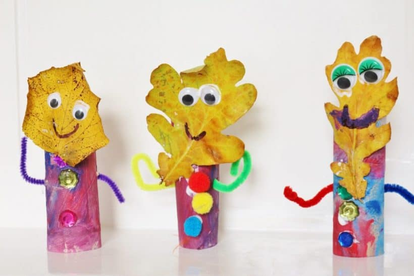 autumn leaf people craft for kids