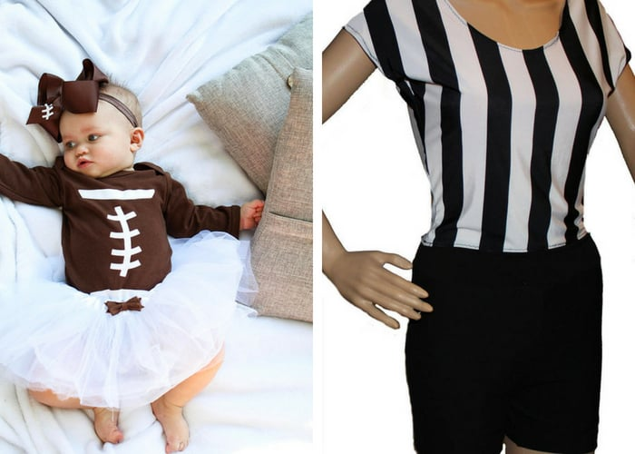 football and ref halloween costumes mommy and me