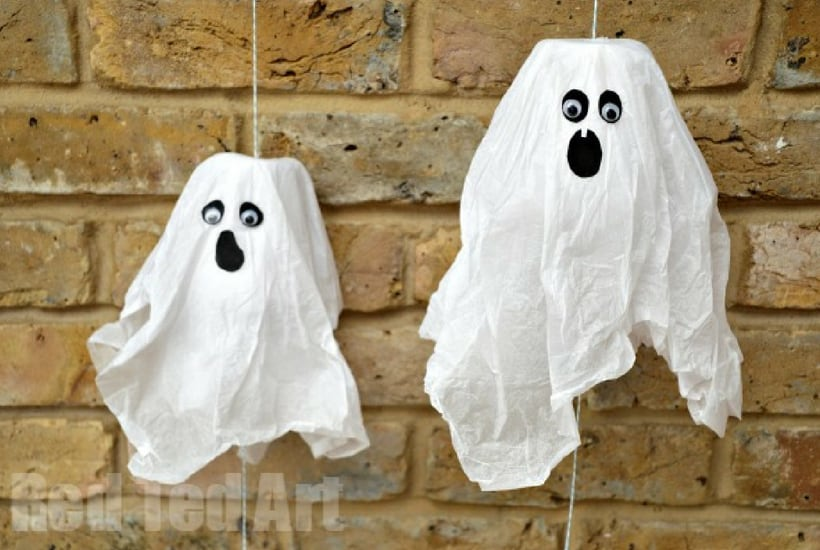 ghost halloween crafts for kids