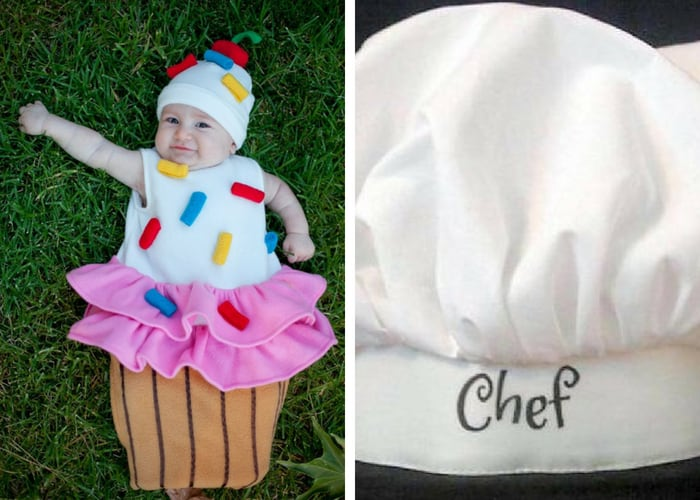 cupcake and chef halloween costumes mommy and me
