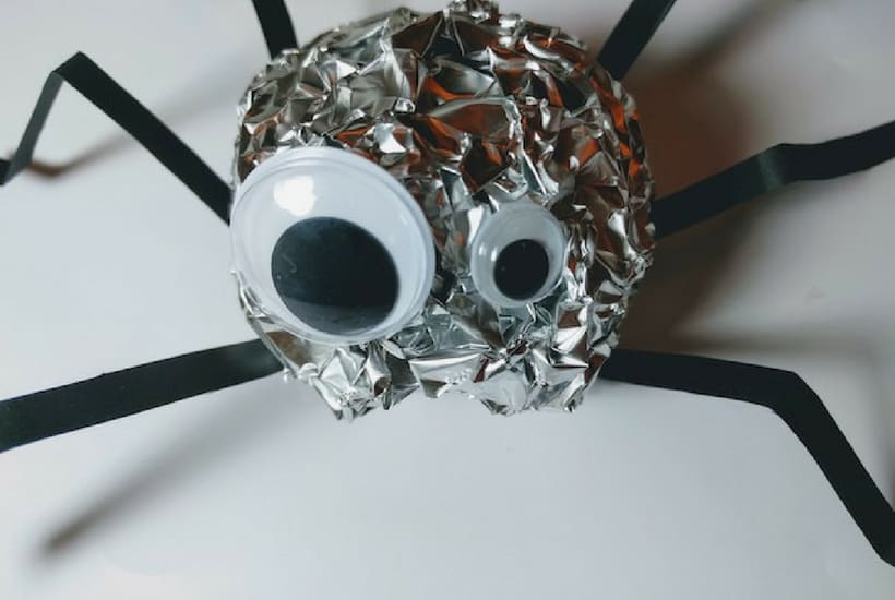 halloween craft for toddler spider