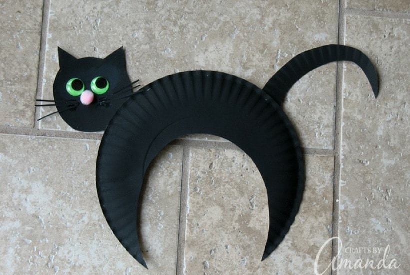 cat halloween crafts for toddlers