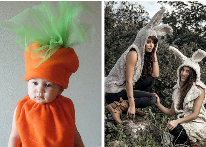 carrot halloween costumes mommy and me