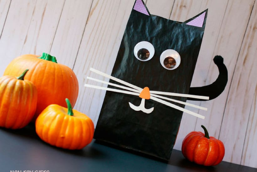 cat halloween crafts for kids