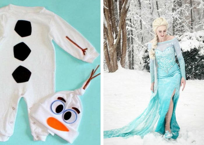 elsa and olaf halloween costumes mommy and me