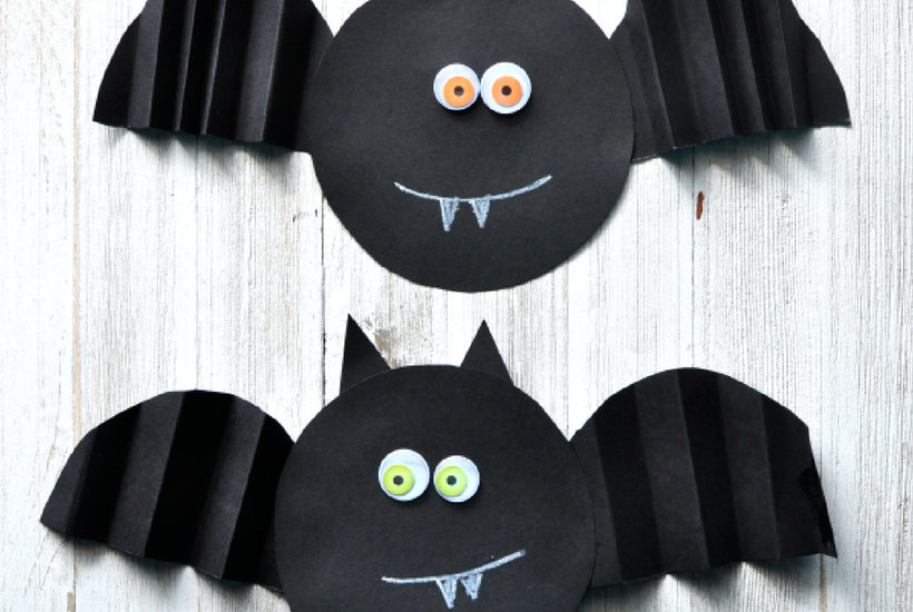 bat halloween crafts for toddlers