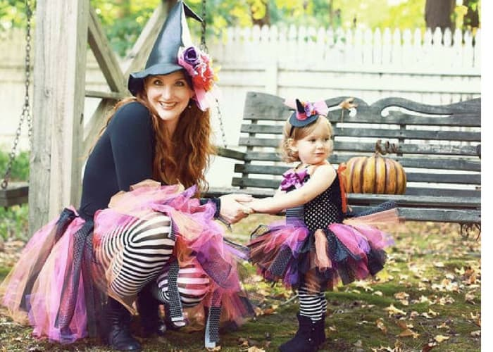 mom witch halloween costumes mommy and me