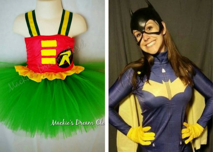 batman and robin halloween costumes mommy and me