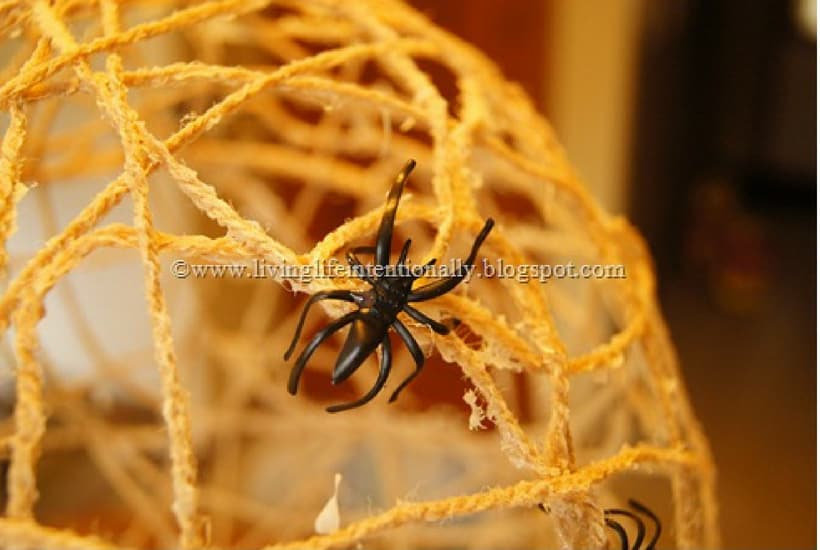 spiderweb halloween craft