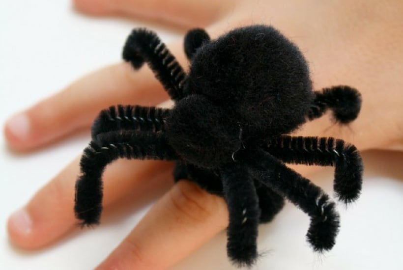diy spider rings halloween crafts for toddlers