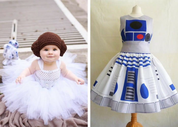 leah and r2d2 halloween costumes mommy and me