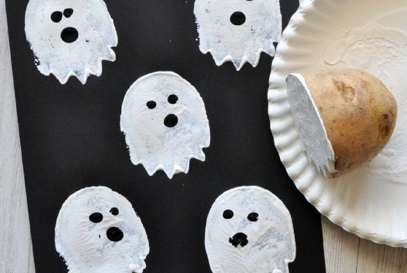 ghost halloween crafts for toddlers