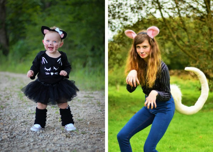cat and mouse halloween costumes mommy and me
