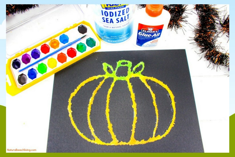 salt halloween crafts for toddlers