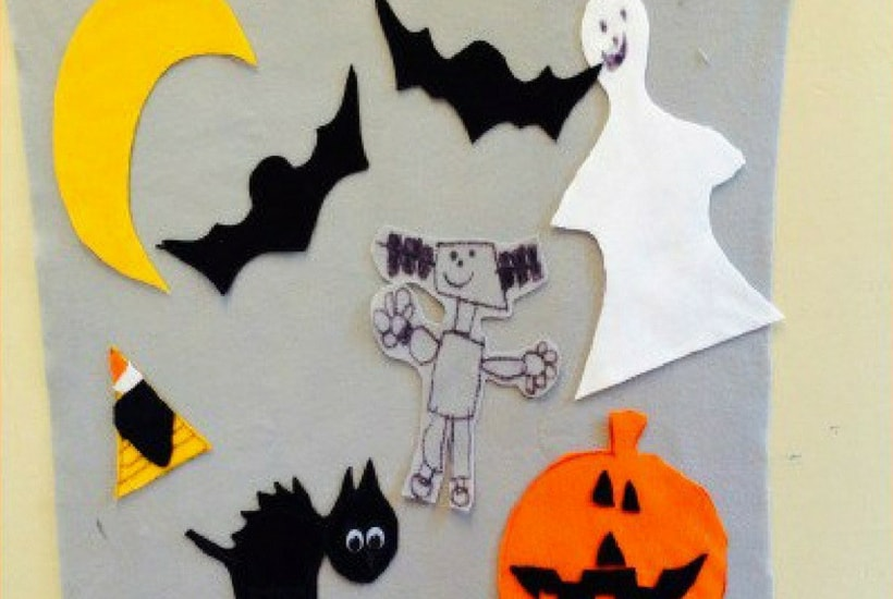 felt board halloween craft