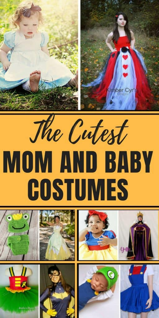 pinterest pin With Halloween approaching, it's time to start looking for some mommy and me costumes for you and your littles. Click through to see some unique and interesting costumes for mom and baby!