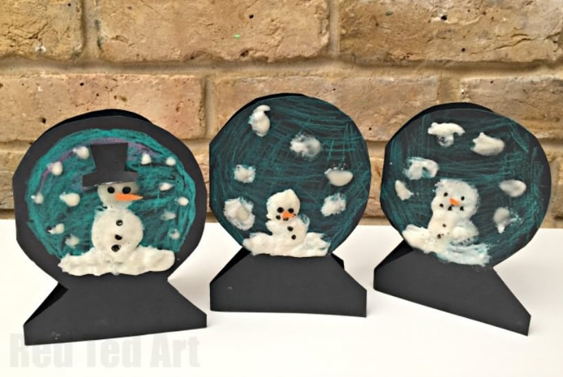 christmas crafts for toddlers snowglobe