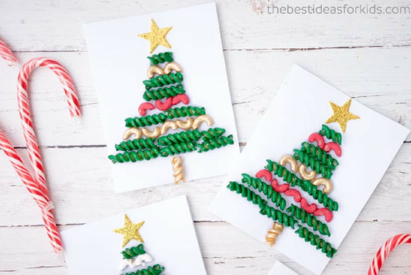 christmas crafts for toddlers pasta tree