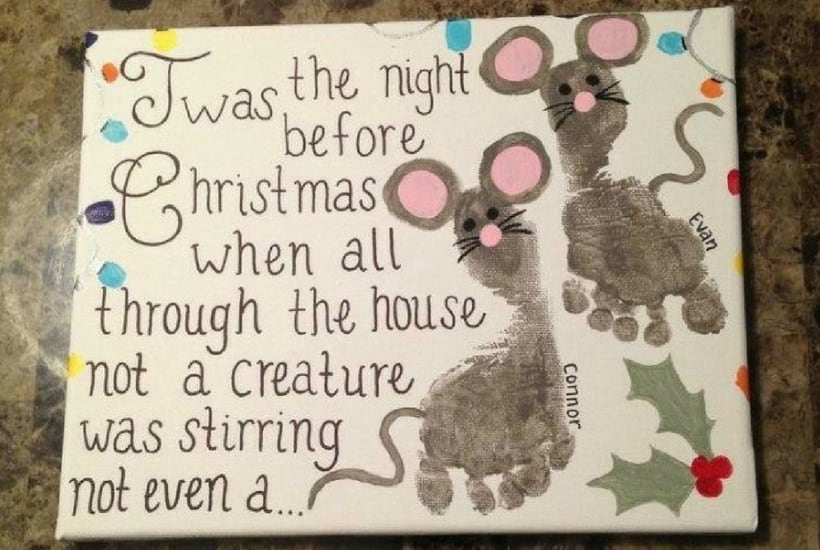 christmas craft for toddler twas the night before christmas
