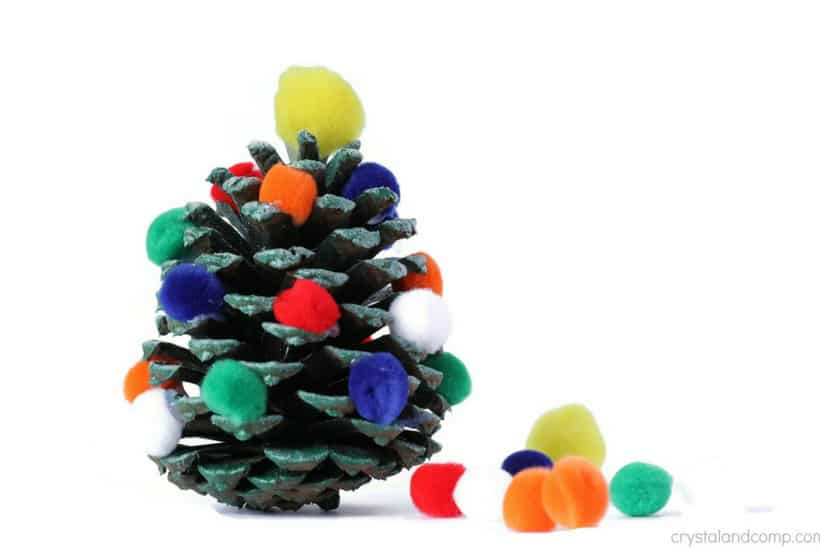 christmas crafts for toddlers pinecone