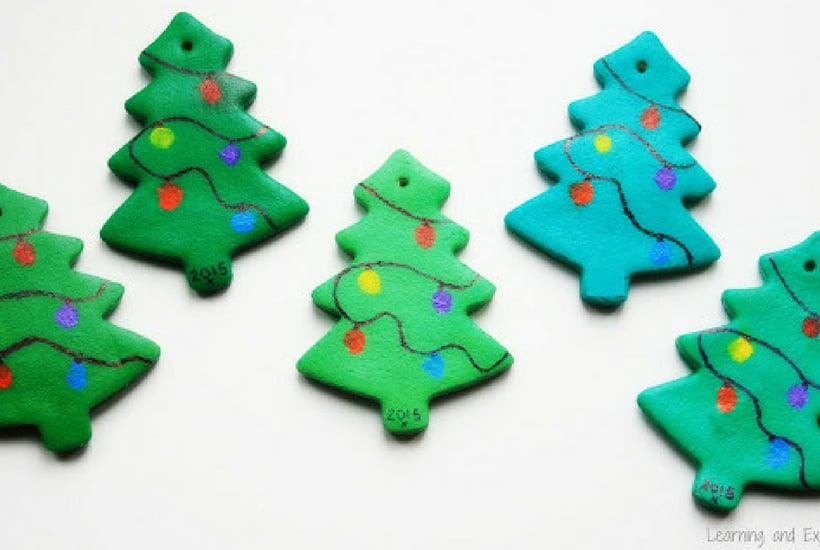 christmas crafts for toddlers saltdough fingerprint