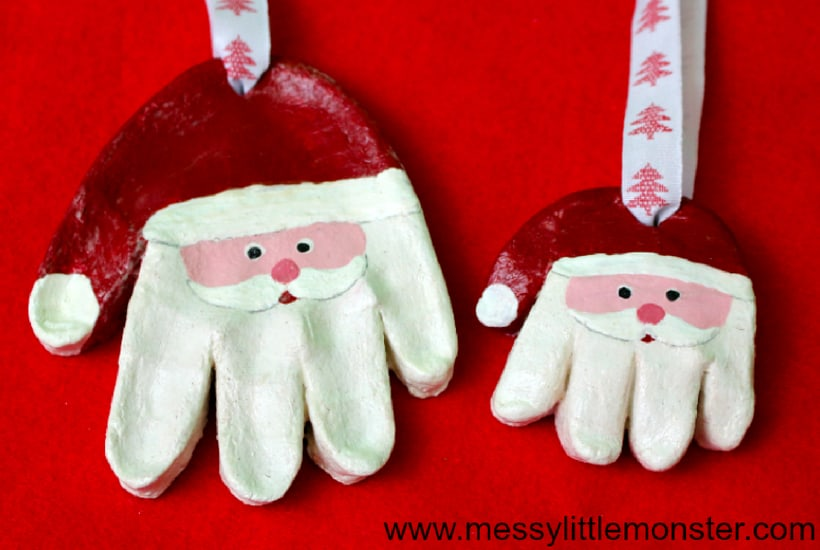 homemade toddler keepsake ornaments santa