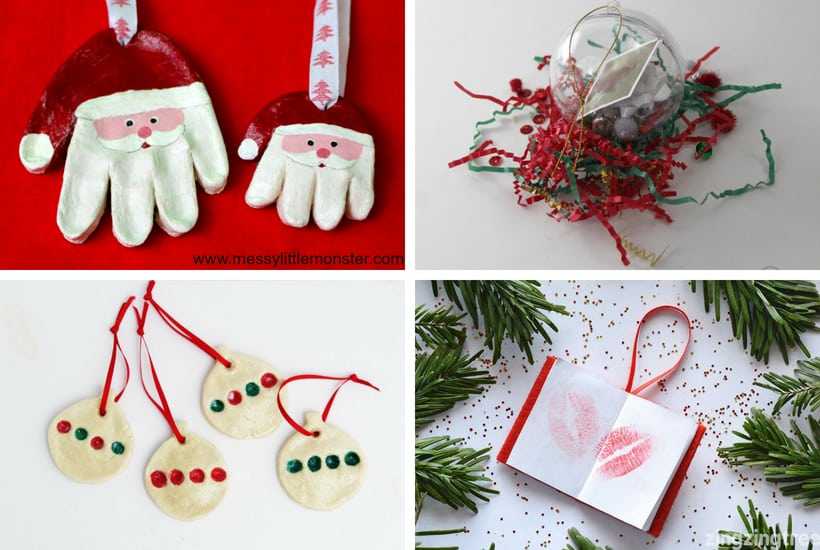 picture of homemade toddler keepsake ornaments