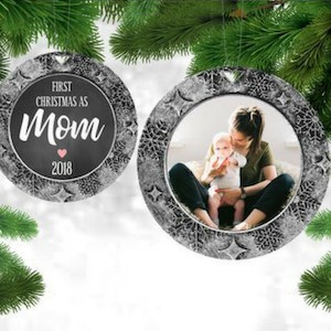 12 baby's first christmas ornament for mom