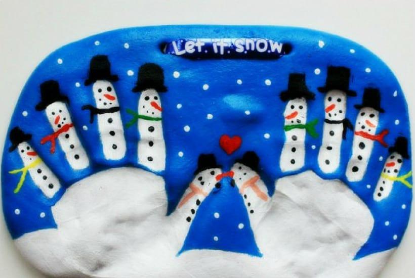 homemade toddler keepsake ornaments snowman