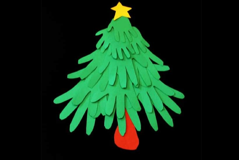homemade toddler keepsake ornaments handprint tree
