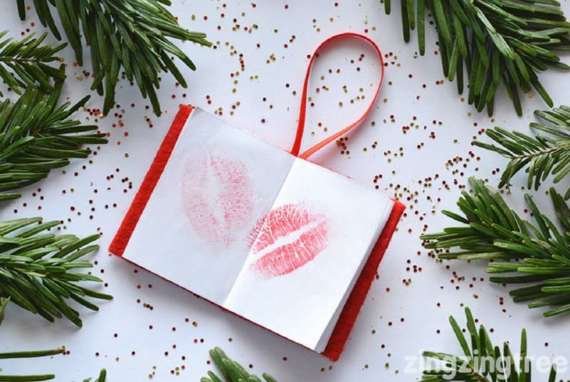 homemade toddler keepsake ornaments book of kisses