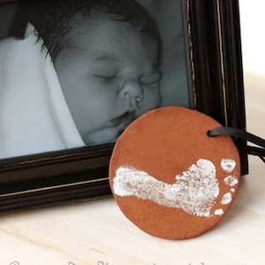 baby's first christmas ornament diy clay