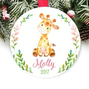 baby's first christmas ornament giraffe