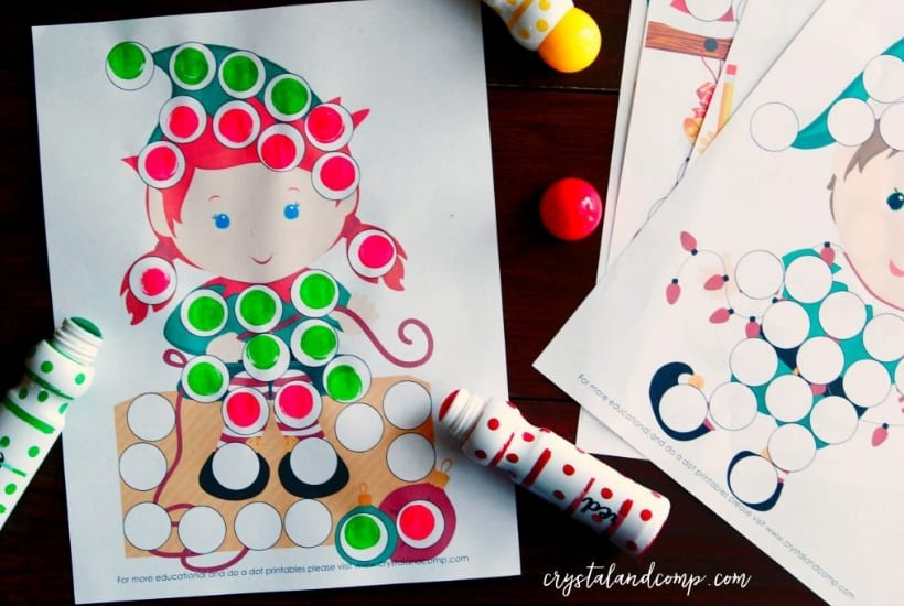 dot elf on the shelf printable