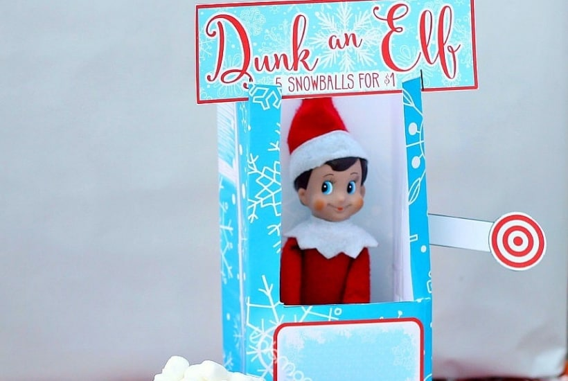 dunk table elf on the shelf printable