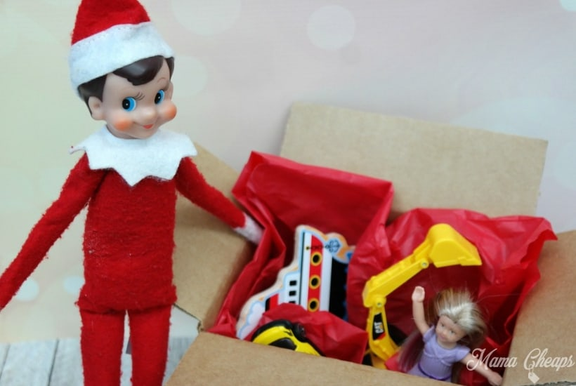 toy challenge elf on the shelf activity