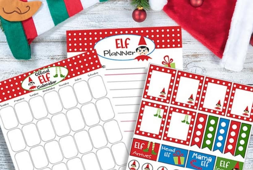 elf on the shelf printable planner