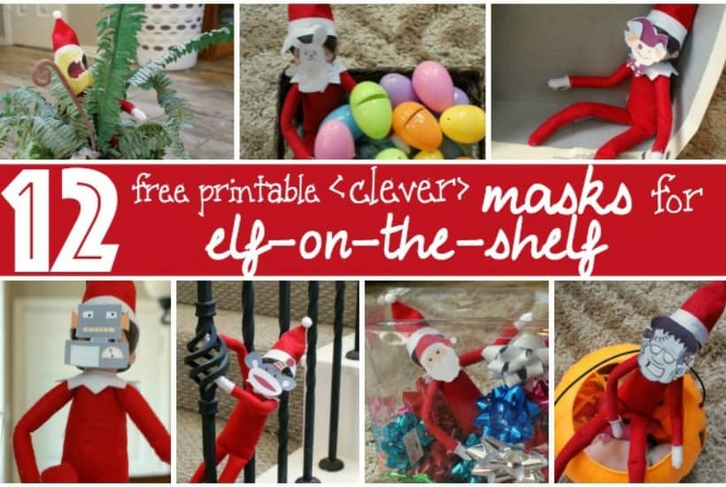 masks for elf on the shelf printable