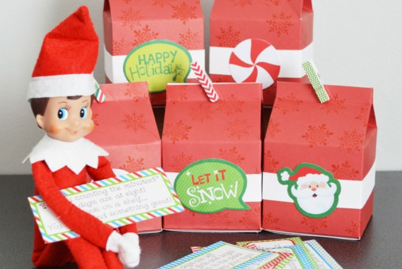present hunt elf on the shelf printable